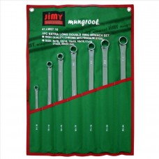 jimy Long Double Ring Spanner Set MM 7pc